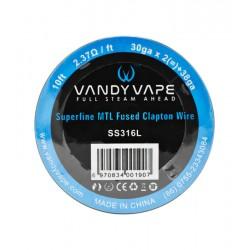 SS316L Superfine MTL Fused Clapton de Vandy Vape