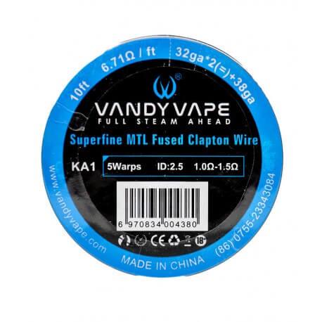 Kanthal A1 Superfine MTL Fused Clapton de Vandy Vape